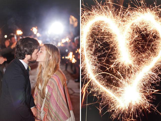 sparkler wedding exit, sparklet heart