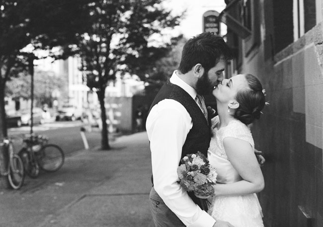 bride and groom, brooklyn