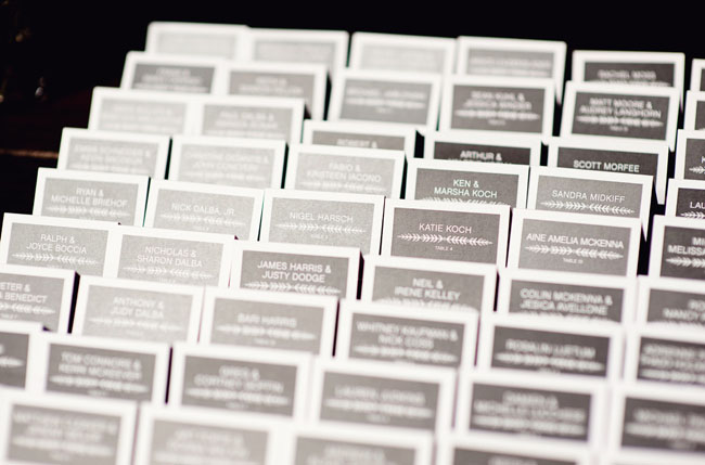 gray escort cards