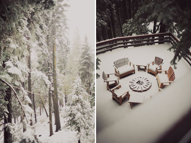 big bear cabin, snow