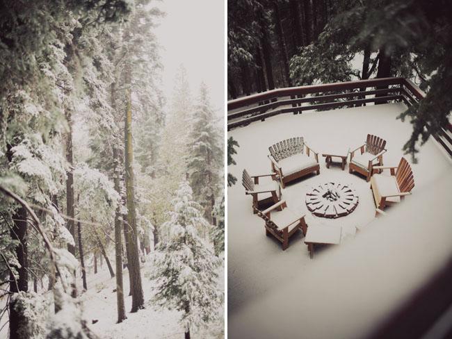 big bear cabin, snow
