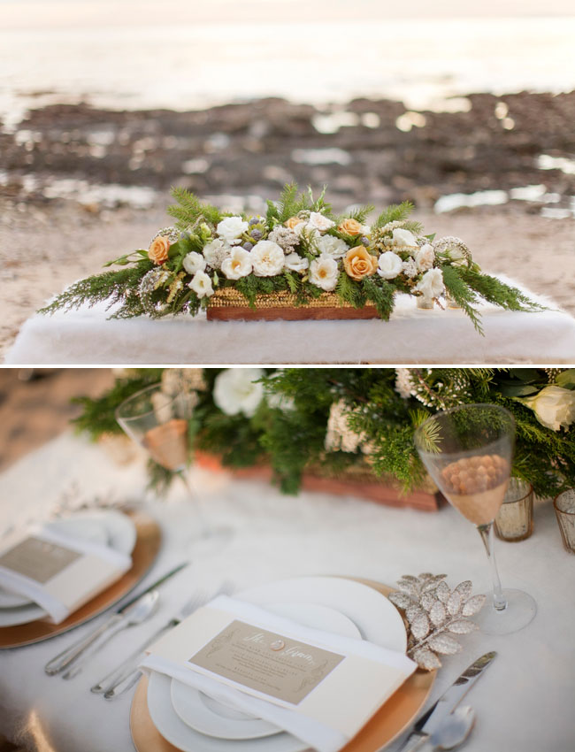 winter table scape