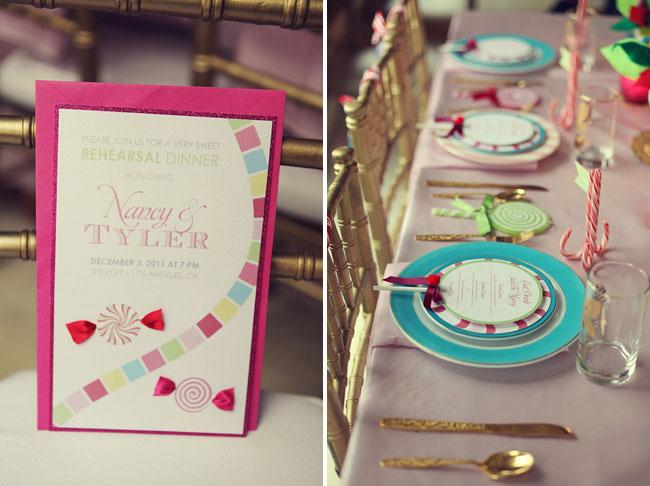 candyland wedding invitation