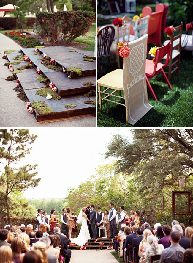 ceremony stage wood