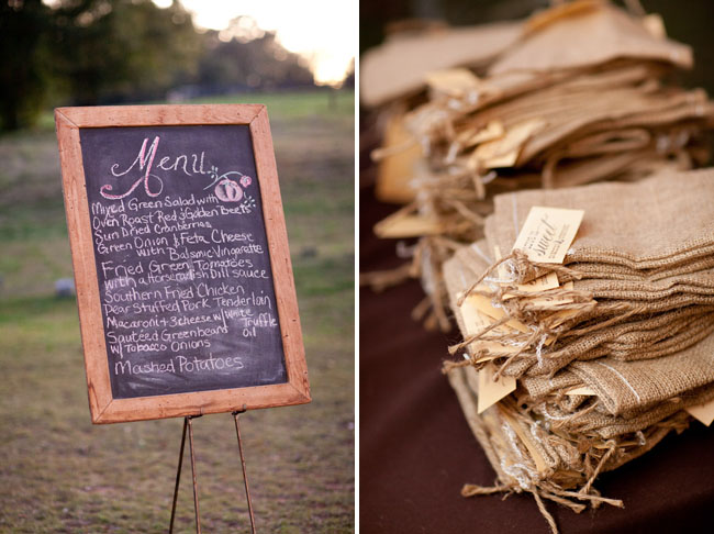 burlap favor bags DeAnna Pappas wedding
