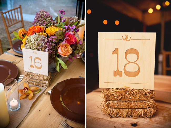 rustic wood table numbers DeAnna Pappas wedding