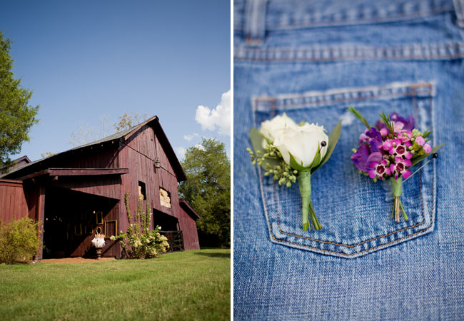 farm, boutonnieres on jeans