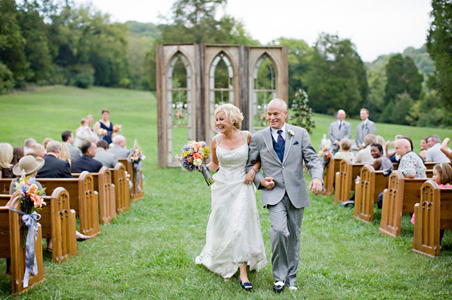 church windows used at ceremony outdoors