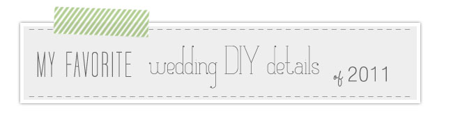 favorite DIY wedding details
