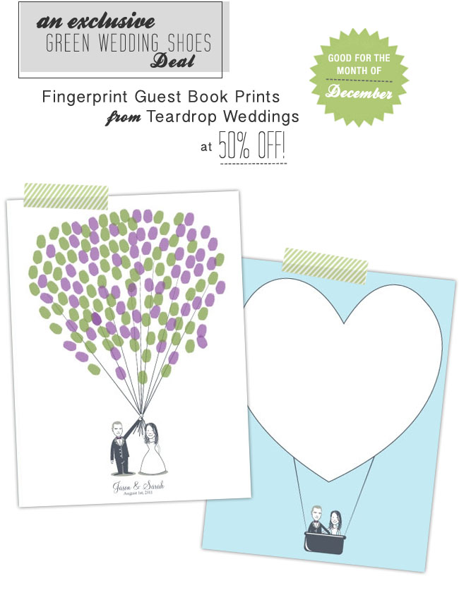 fingerprint guest books teardrop weddings