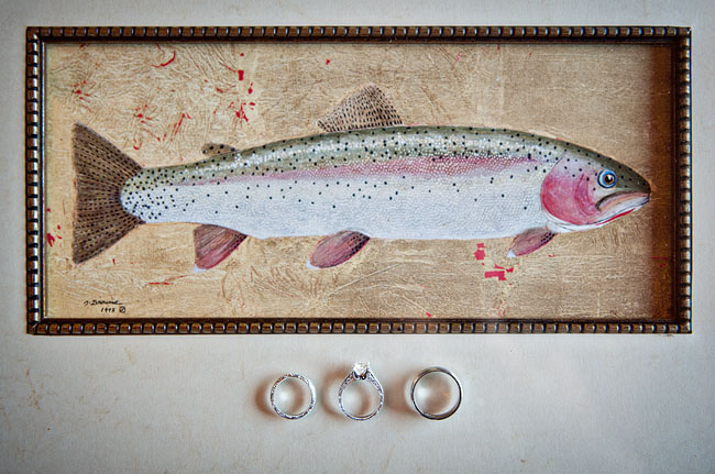 fish, wedding rings