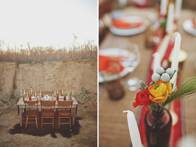 yellow and orange tablescape