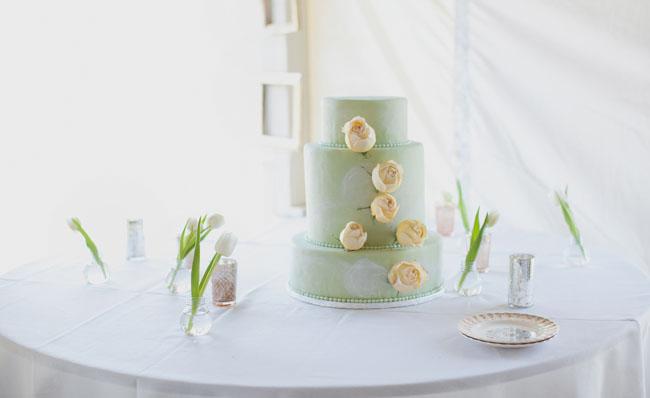 mint green cake
