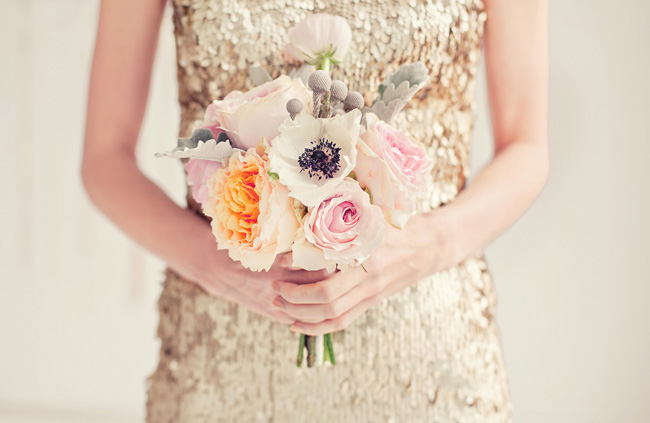 pink orange white bouquet
