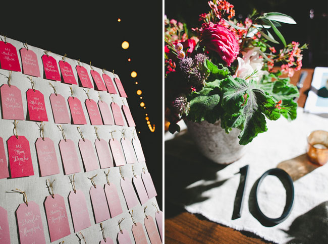 pink ombre escort tags