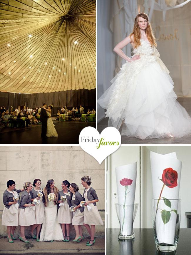 parachute as wedding decor
