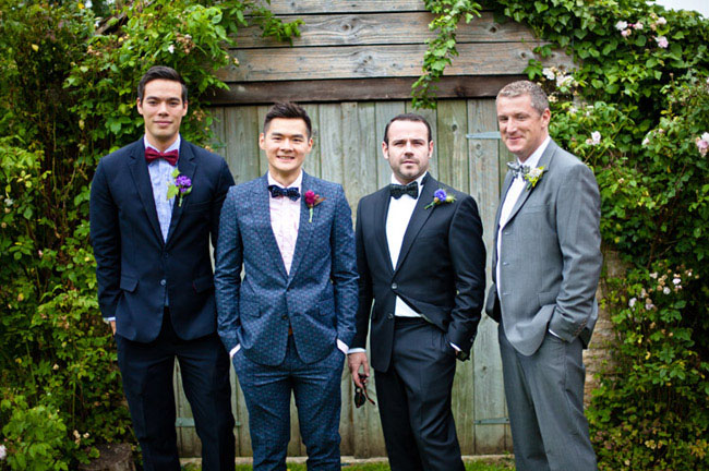 groomsmen wearing bowties