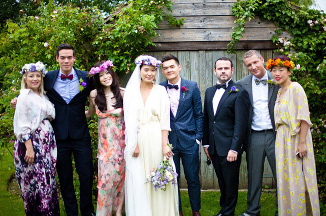 groomsmen wearing bowties