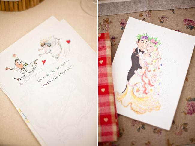 llustrative wedding invites