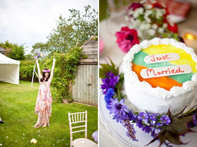 orange top wedding cake