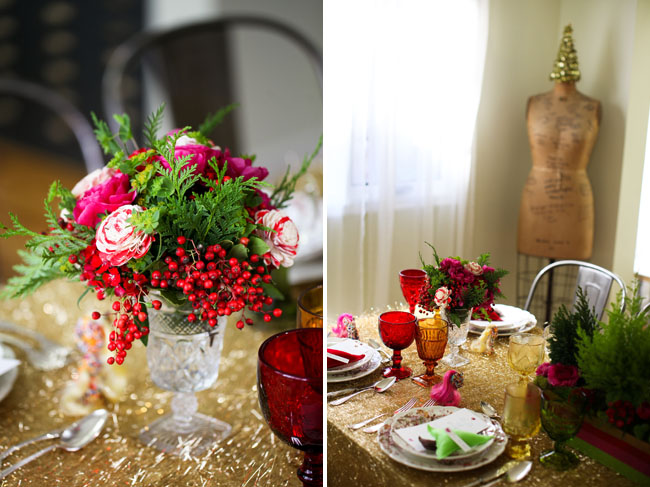 cranberry colored centerpieces