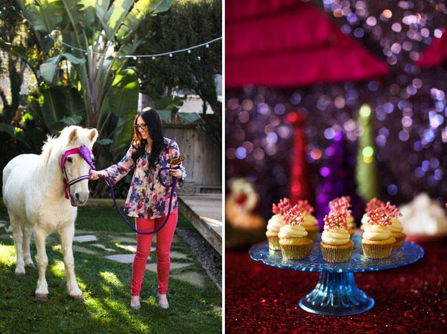 unicorn pony, cupcakes