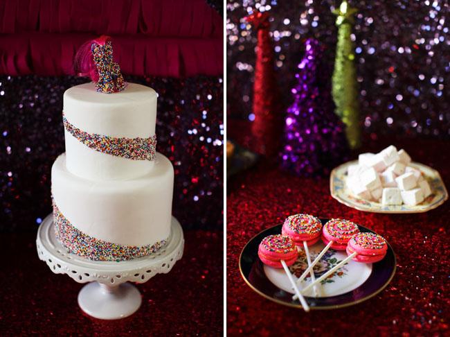 dot sprinkles cake