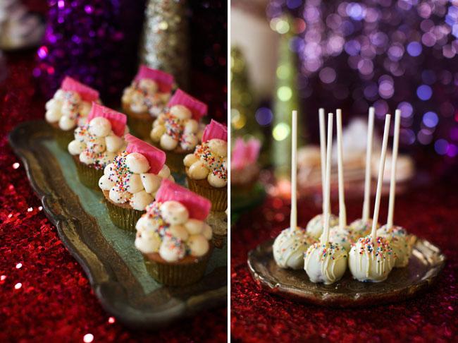 dot sprinkles cupcakes