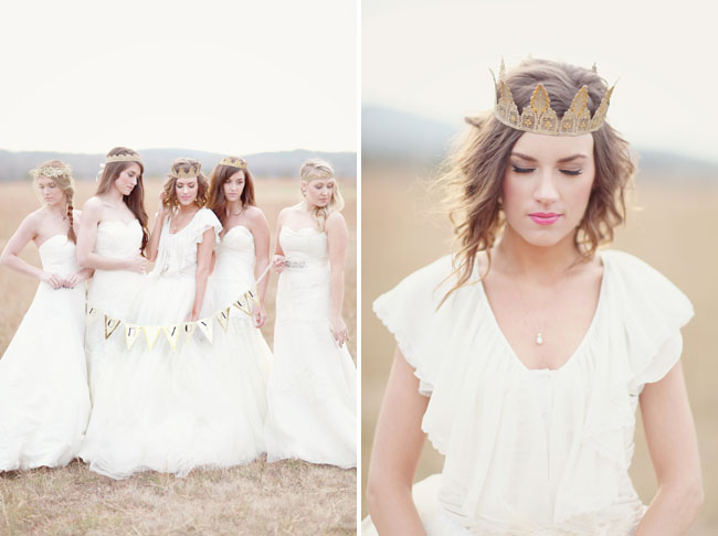 girls in wedding dresses, girl in crown