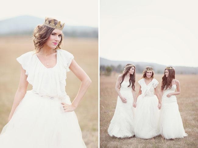 girls in wedding dresses, girl in crown