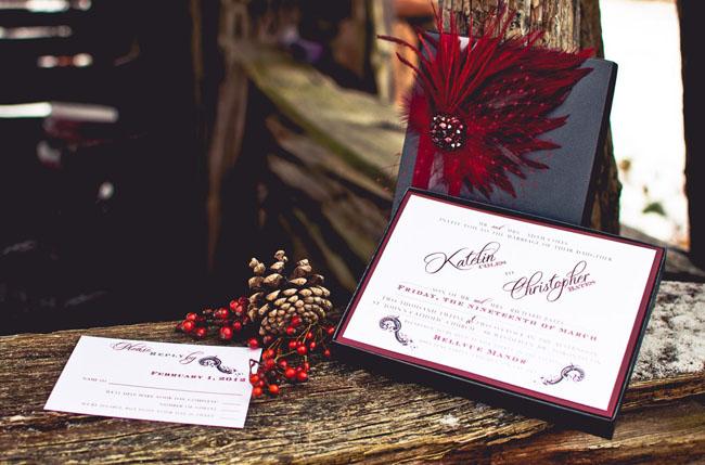 Winter Wedding Ideas: Red + Purple Inspiration