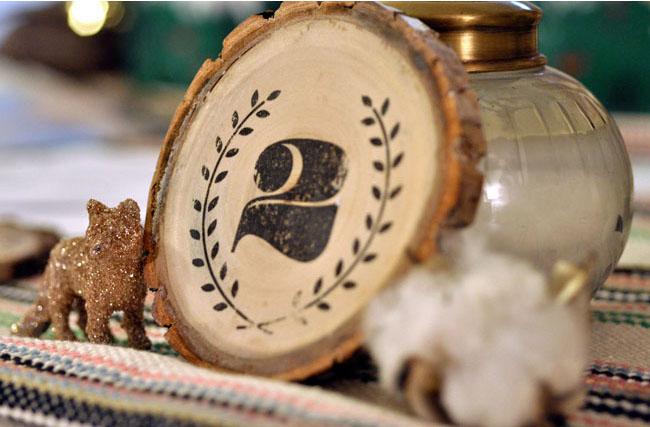 DIY rustic wood table numbers
