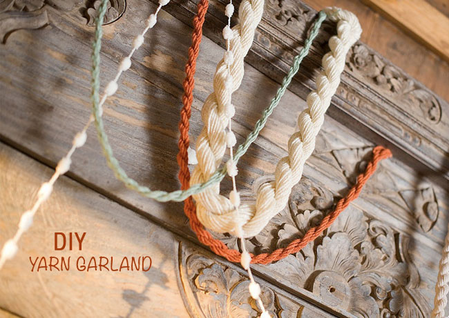yarn garland diy