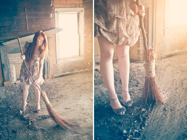 cinderella sweeping