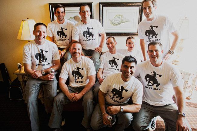 Groomsmen In Custom Shirts