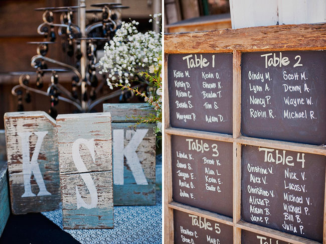 chalkboard table seating
