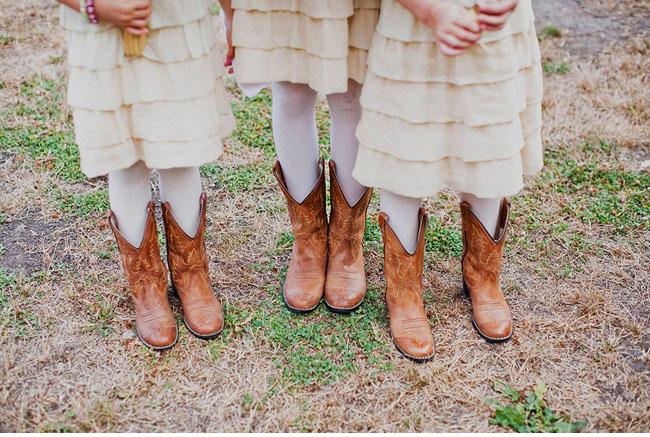 flower girls in cowboy boots