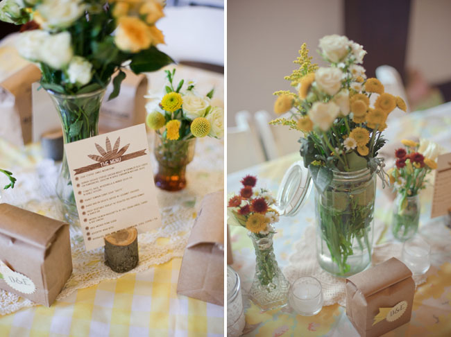 yellow tablescape
