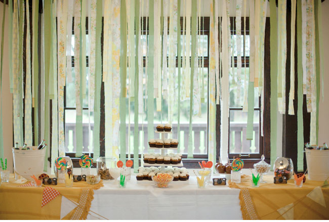 ribbon dessert bar backdrop