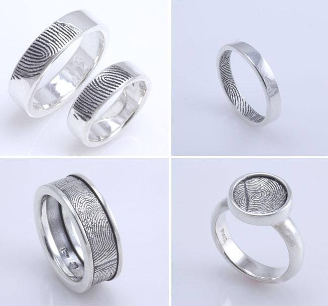 fingerprint wedding rings fabuluster - Creative Wedding Rings