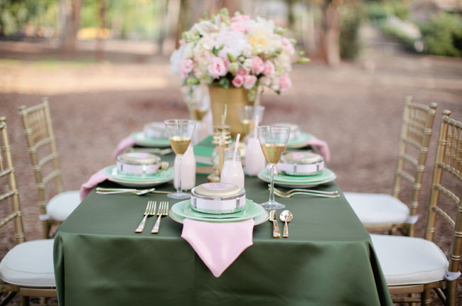 girl scout shower tablescape