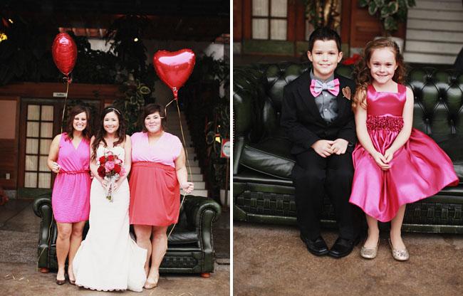 flower girl in pink dress