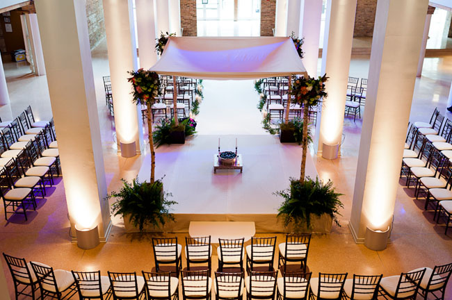 All White Indoor Wedding Ceremony Site: An Indian Wedding In Chicago: Seema + Joe