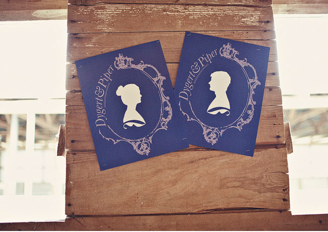 cameo silhouette wedding invitations