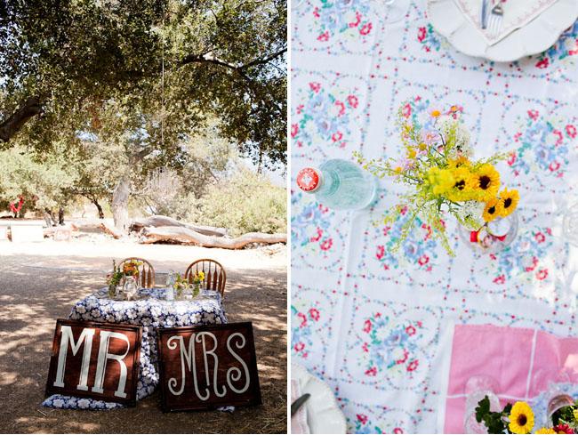 picnic tablescape