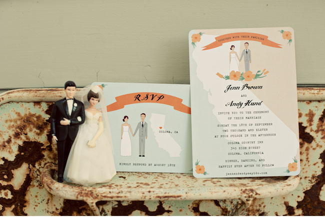 illustrative wedding invitation