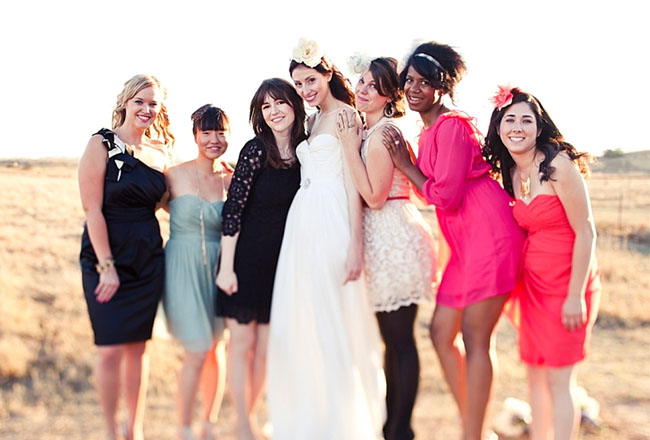mixed dresses bridesmaids