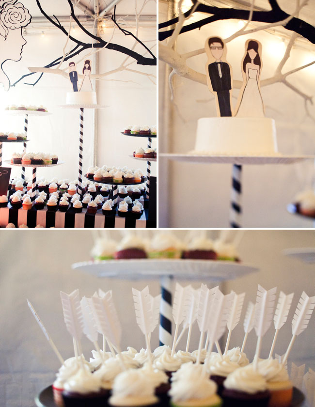 dessert bar, arrow cupcakes