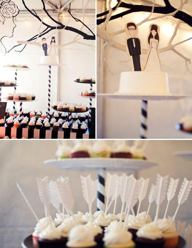 dessert bar, arrow cupcakes