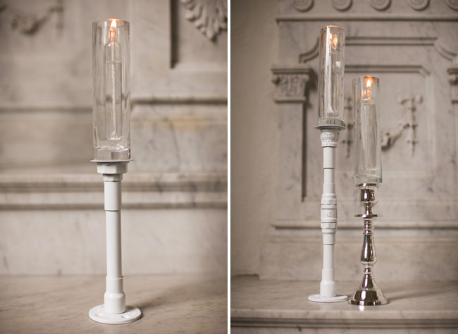candle sticks from pipes